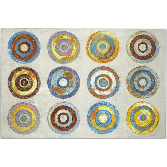Home Accessories - Color Wheels Canvas Print