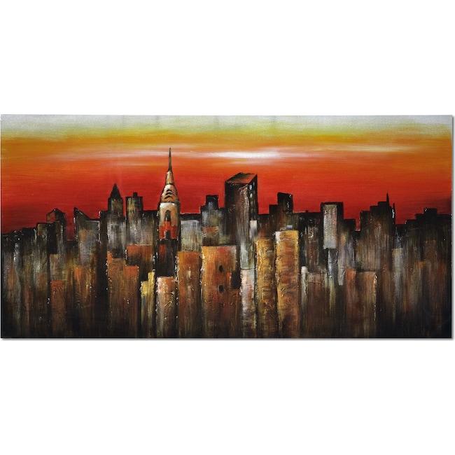 Home Accessories - Orange City Canvas Print
