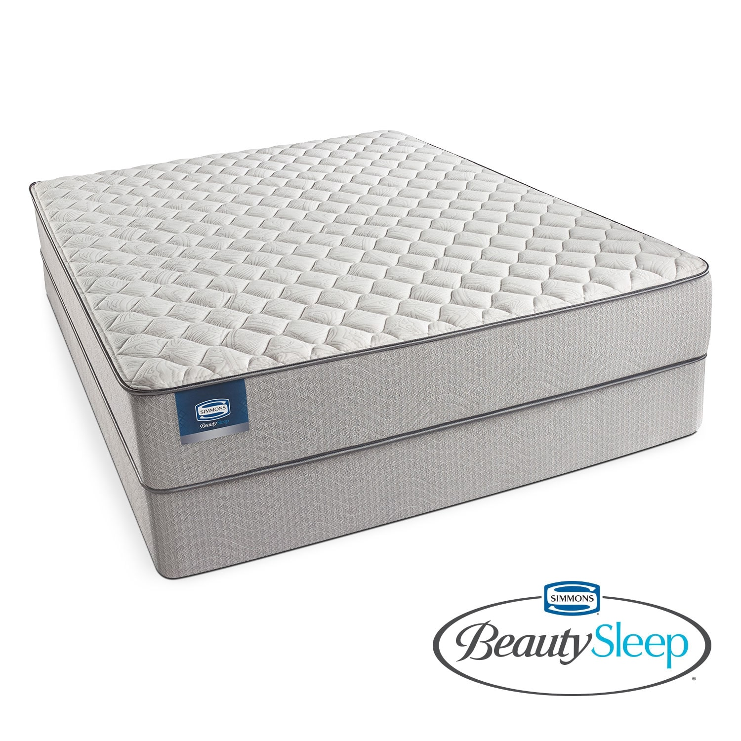 Mattresses and Bedding - Canal St. Firm Queen Mattress/Low Profile Foundation Set