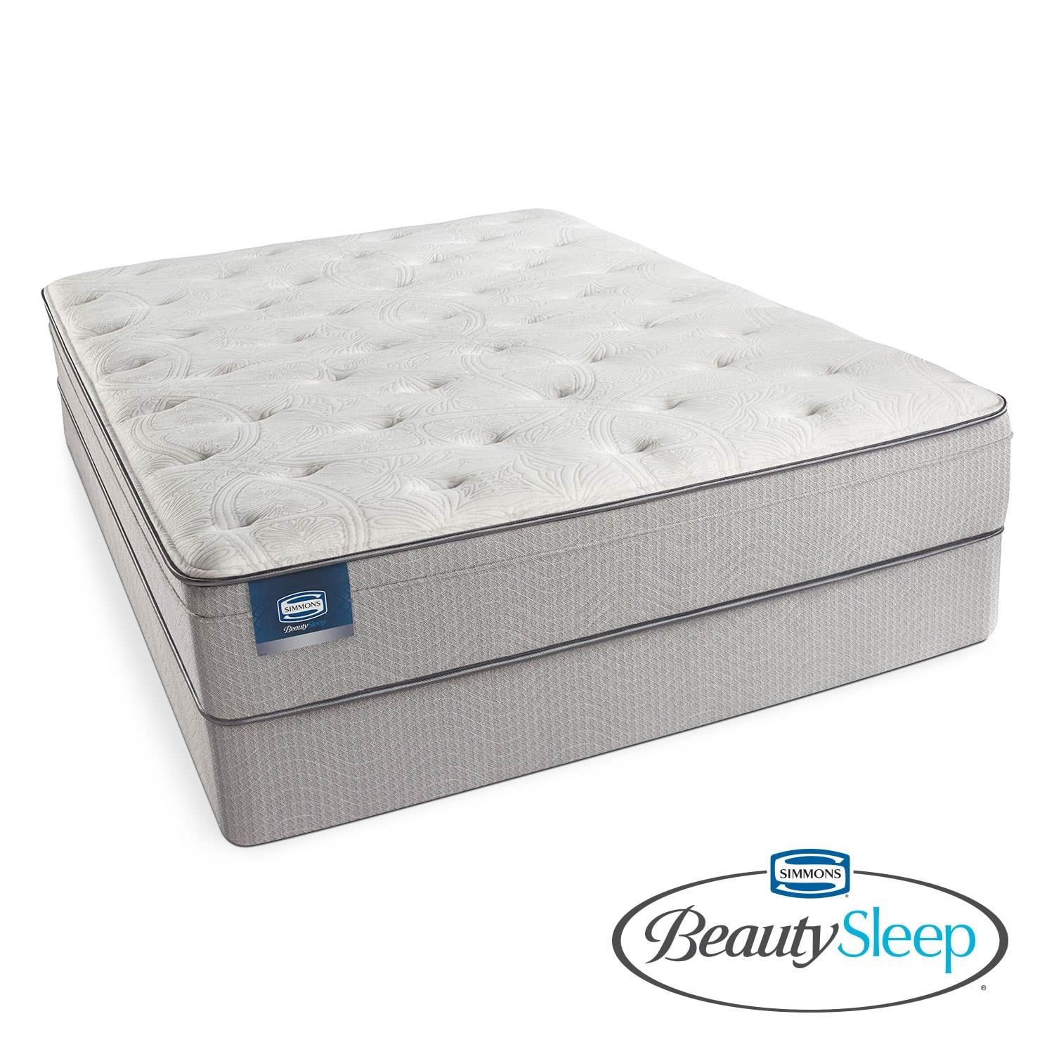 Mattresses and Bedding - Canal St. Plush Queen Mattress/Foundation Set