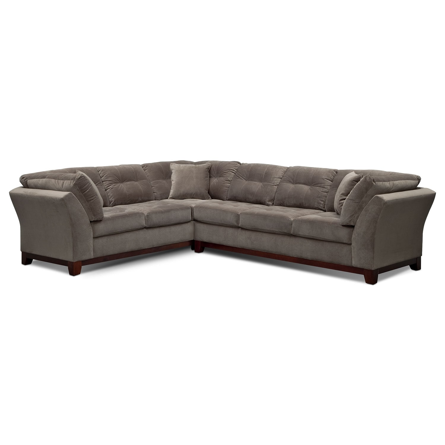 Sebring 2-Piece Sectional with Right-Facing Sofa - Gray