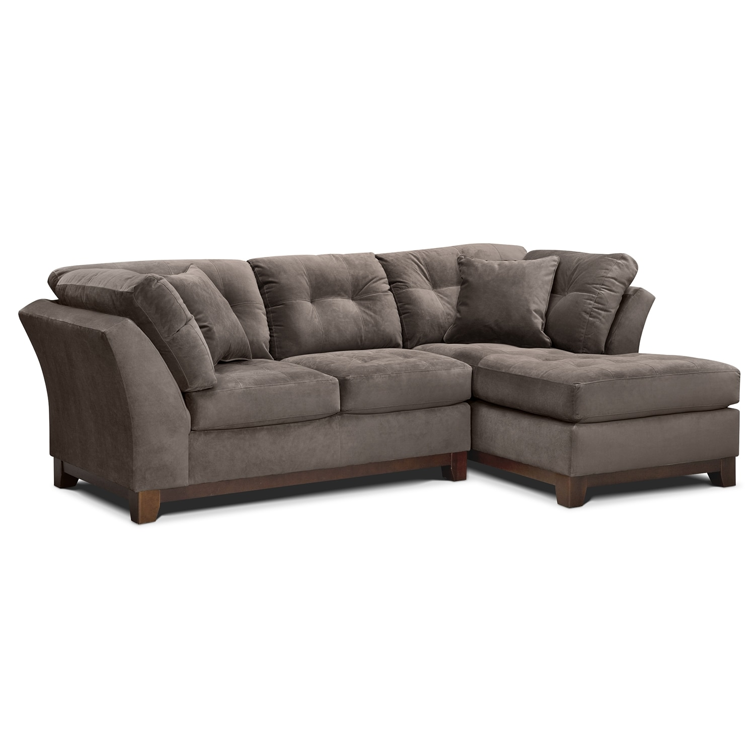 Solace 2-Piece Right-Facing Chaise Sectional - Gray