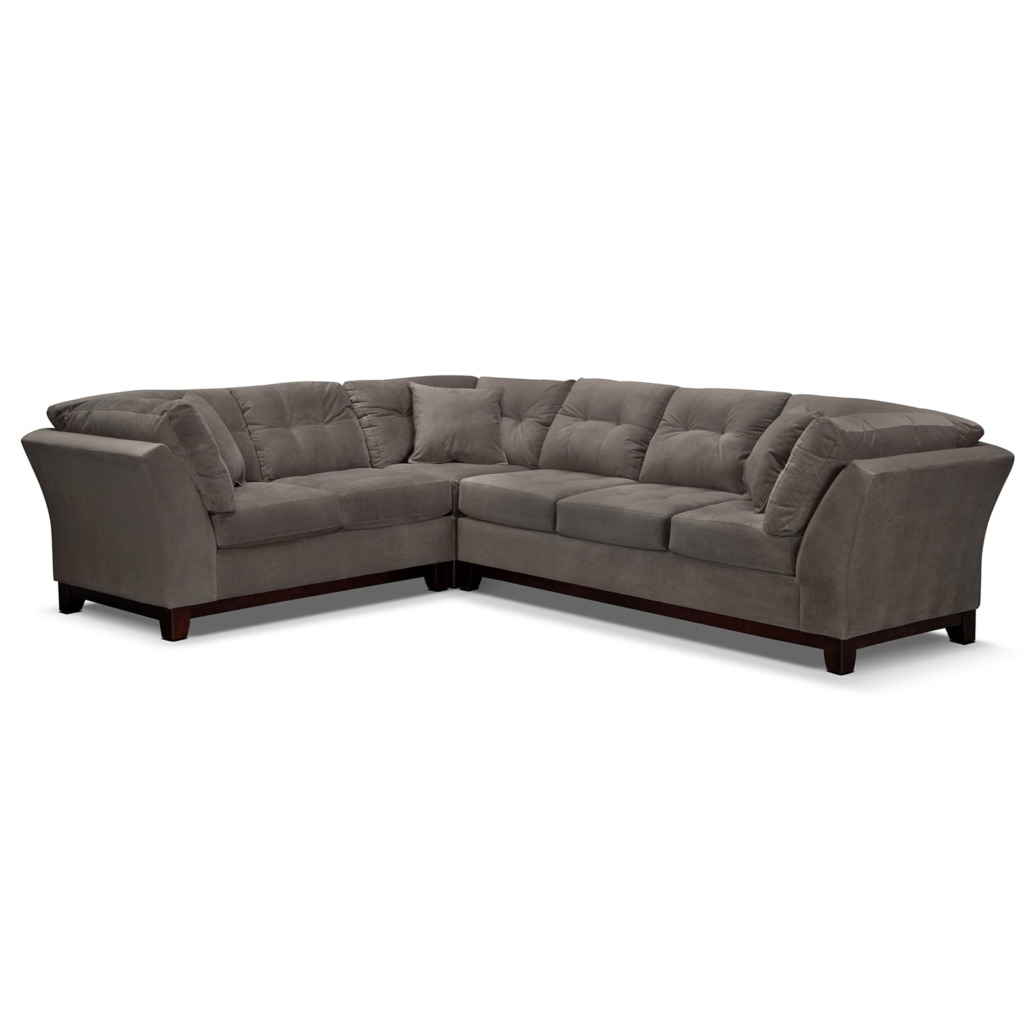 Solace 3-Piece Right-Facing Sofa Sectional - Gray