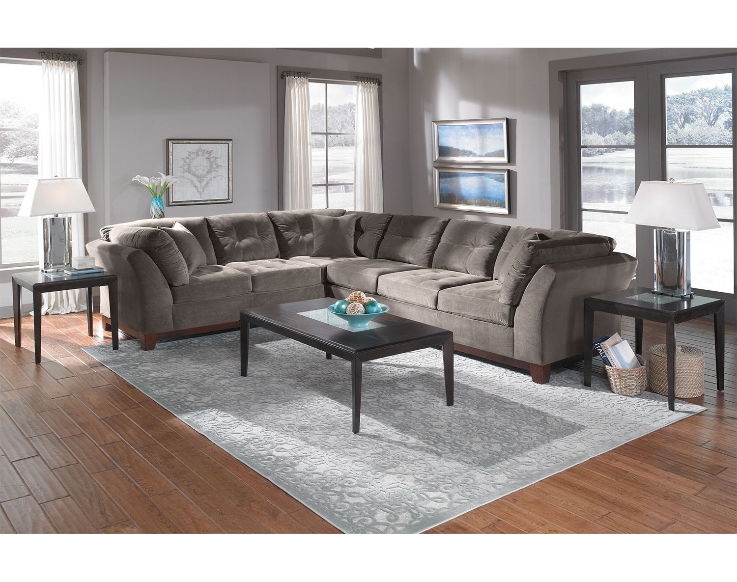 The Solace Sectional Collection - Gray