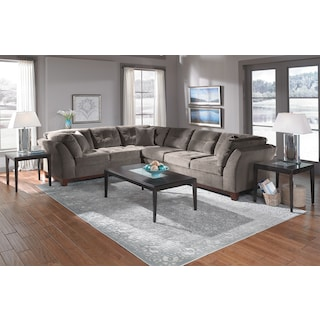 The Sebring Sectional Collection - Gray
