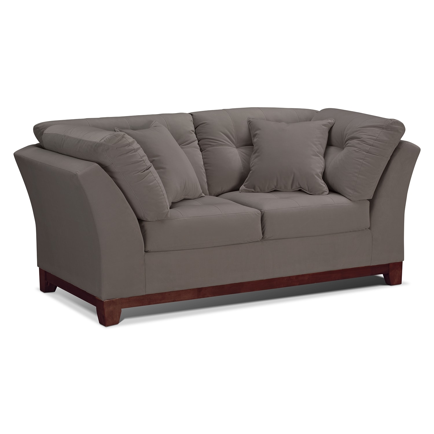 Solace Gray Loveseat