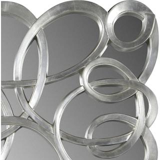 Swirl Circles Mirror - Silver