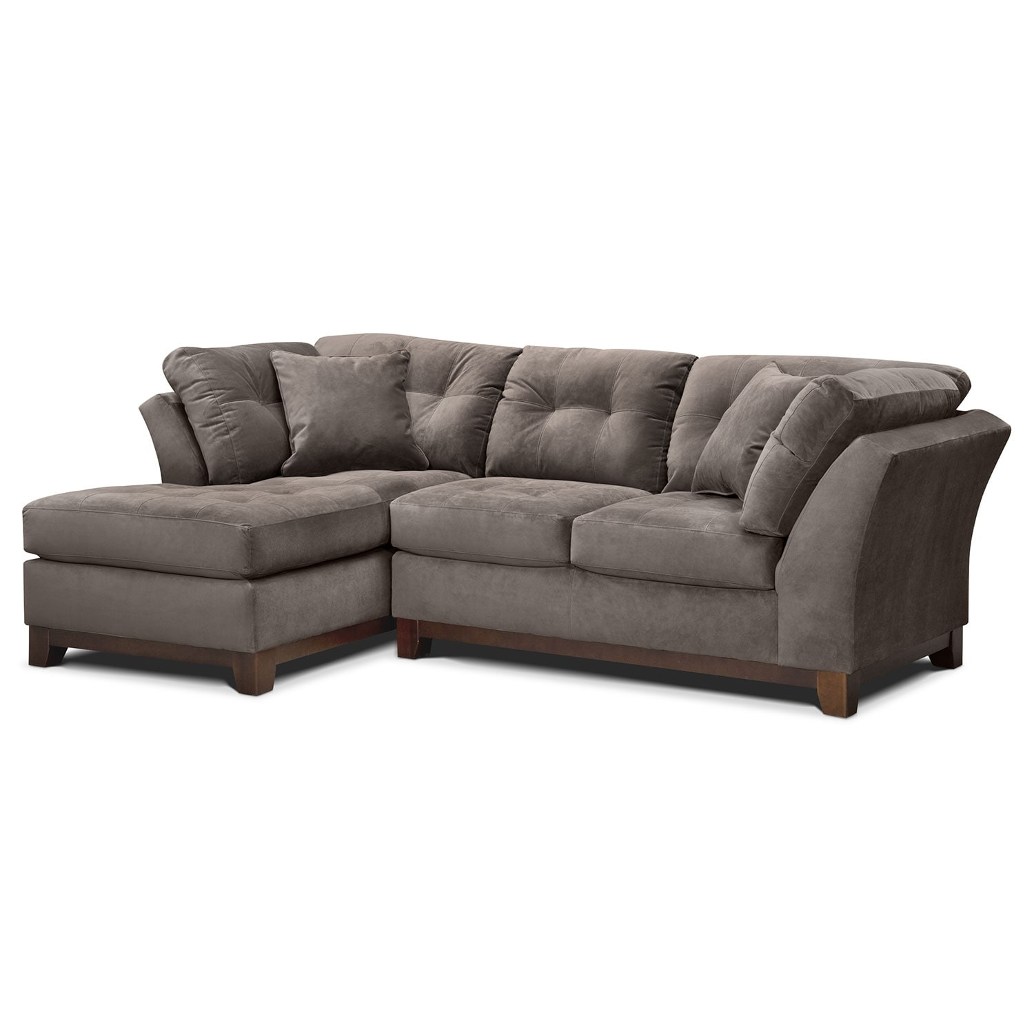 Living Room Furniture - Solace Gray II 2 Pc. Sectional (Alternate)