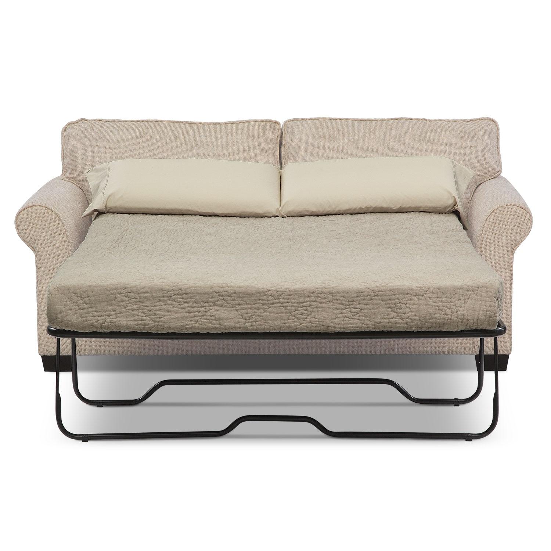 Fletcher Full Innerspring Sleeper Sofa Beige American Signature Furniture
