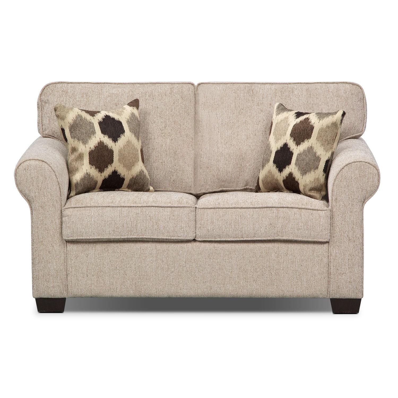Fletcher Twin Memory Foam Sleeper Sofa Beige American
