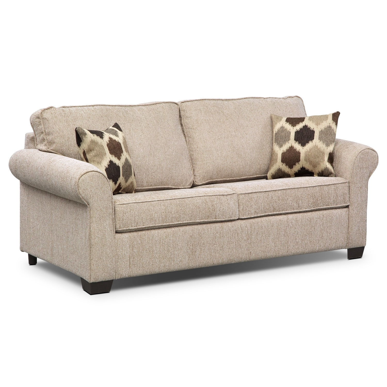 Fletcher Queen Memory Foam Sleeper Sofa Beige