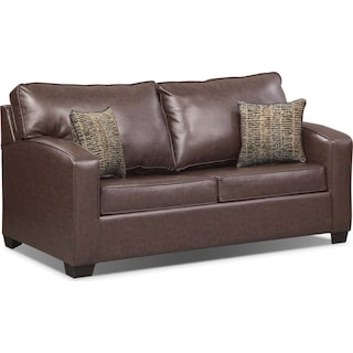 Brookline Full Memory Foam Sleeper Sofa - Brown