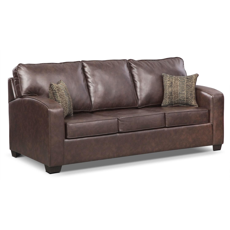 Brookline Queen Memory Foam Sleeper Sofa - Brown