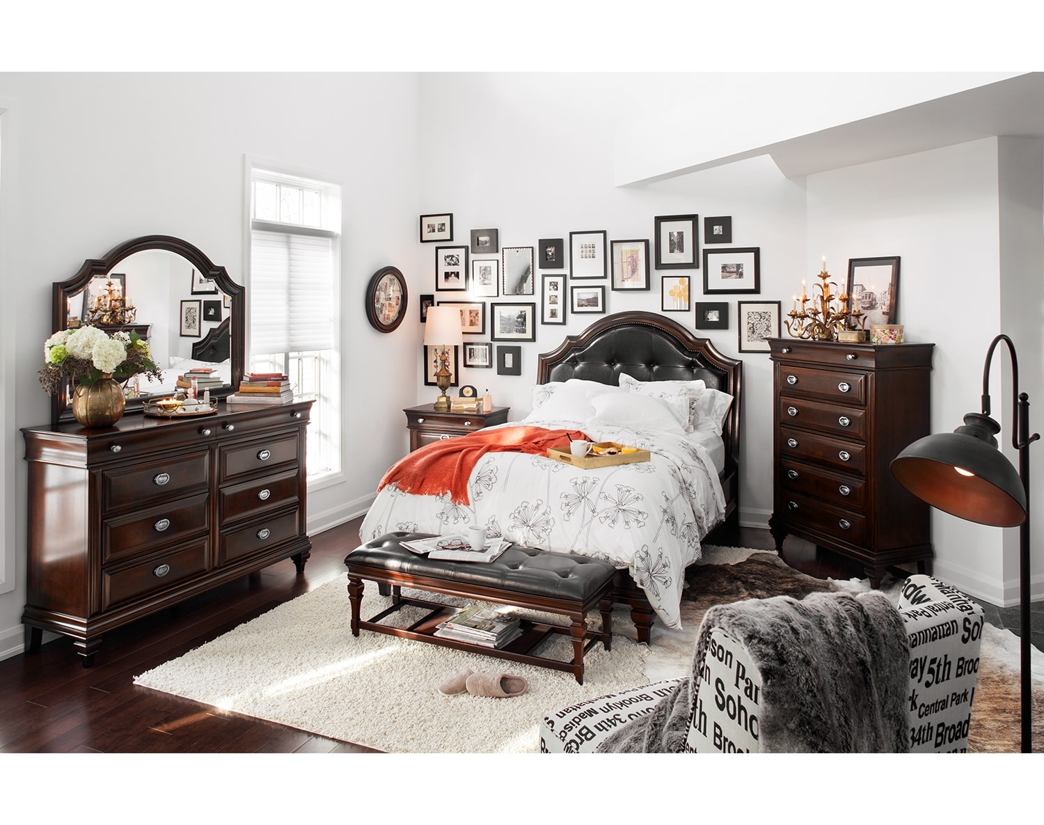 The Manhattan Collection Cherry American Signature Furniture - Manhattan bedroom furniture