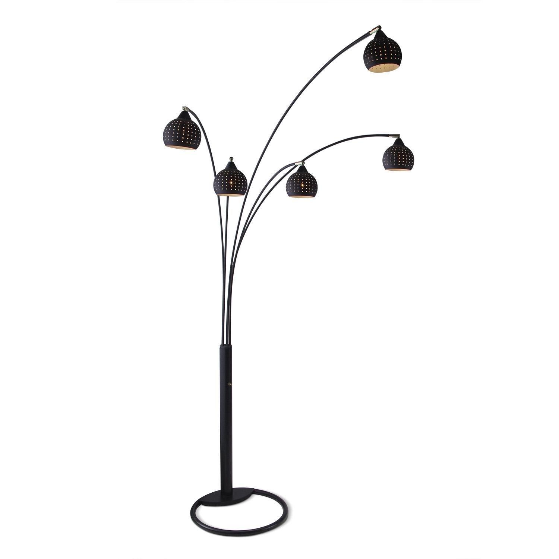 Home Accessories - Black Holes Floor Lamp