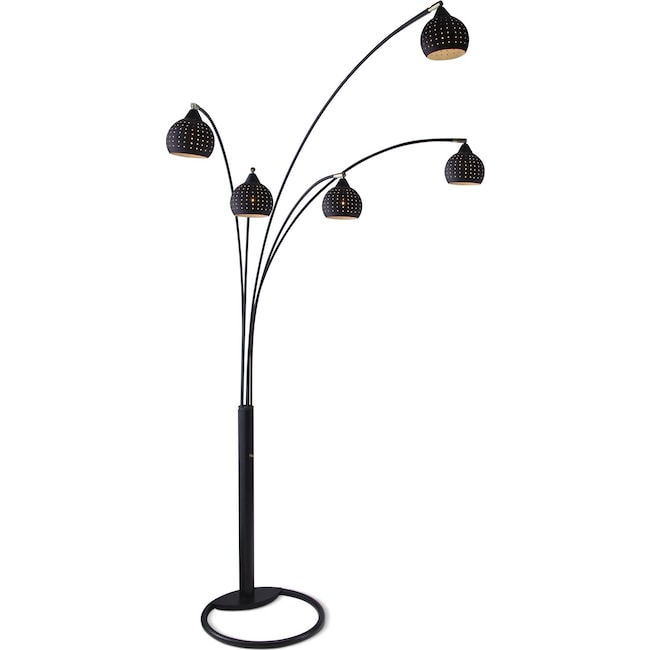 Home Accessories - Black Holes Floor Lamp