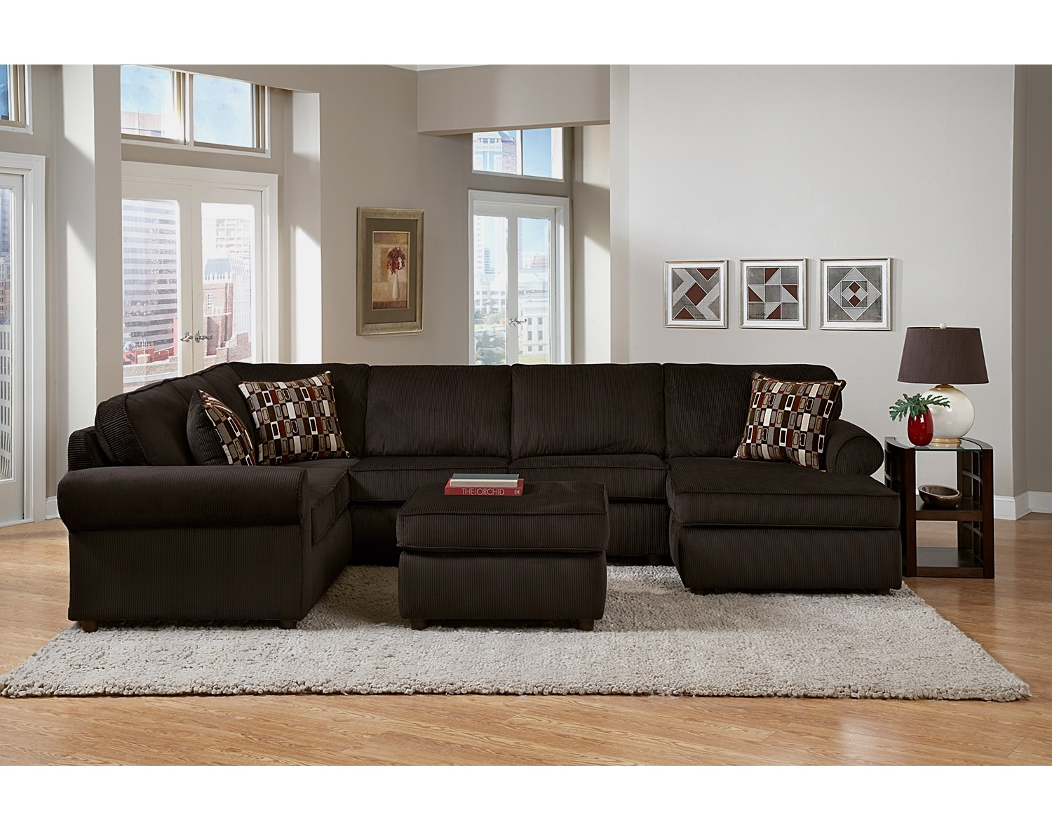 The Monarch Sectional Collection - Chocolate