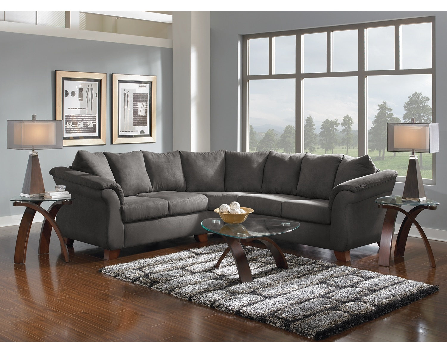 The Adrian Sectional Collection - Graphite