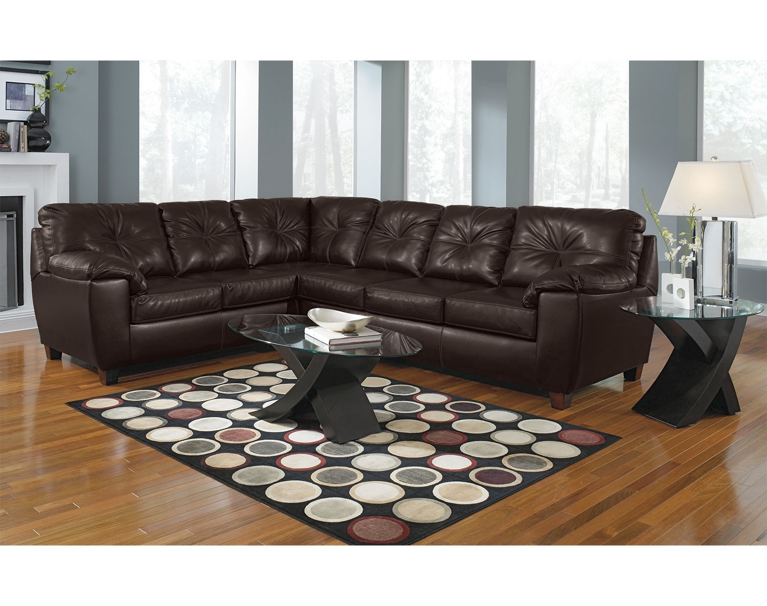 The Rialto Sectional Collection - Brown