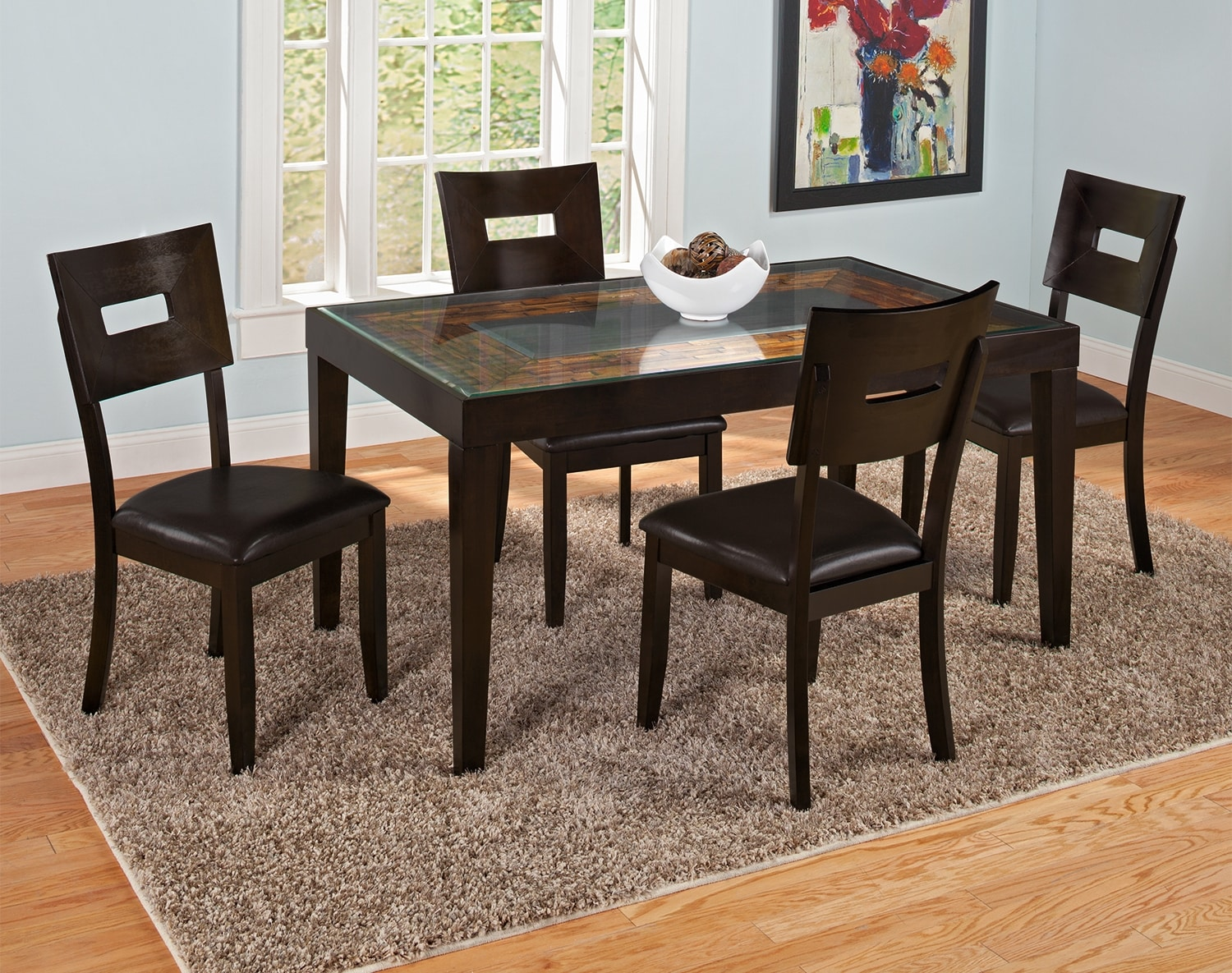 cyprus dining room collection american signature furniture. Black Bedroom Furniture Sets. Home Design Ideas