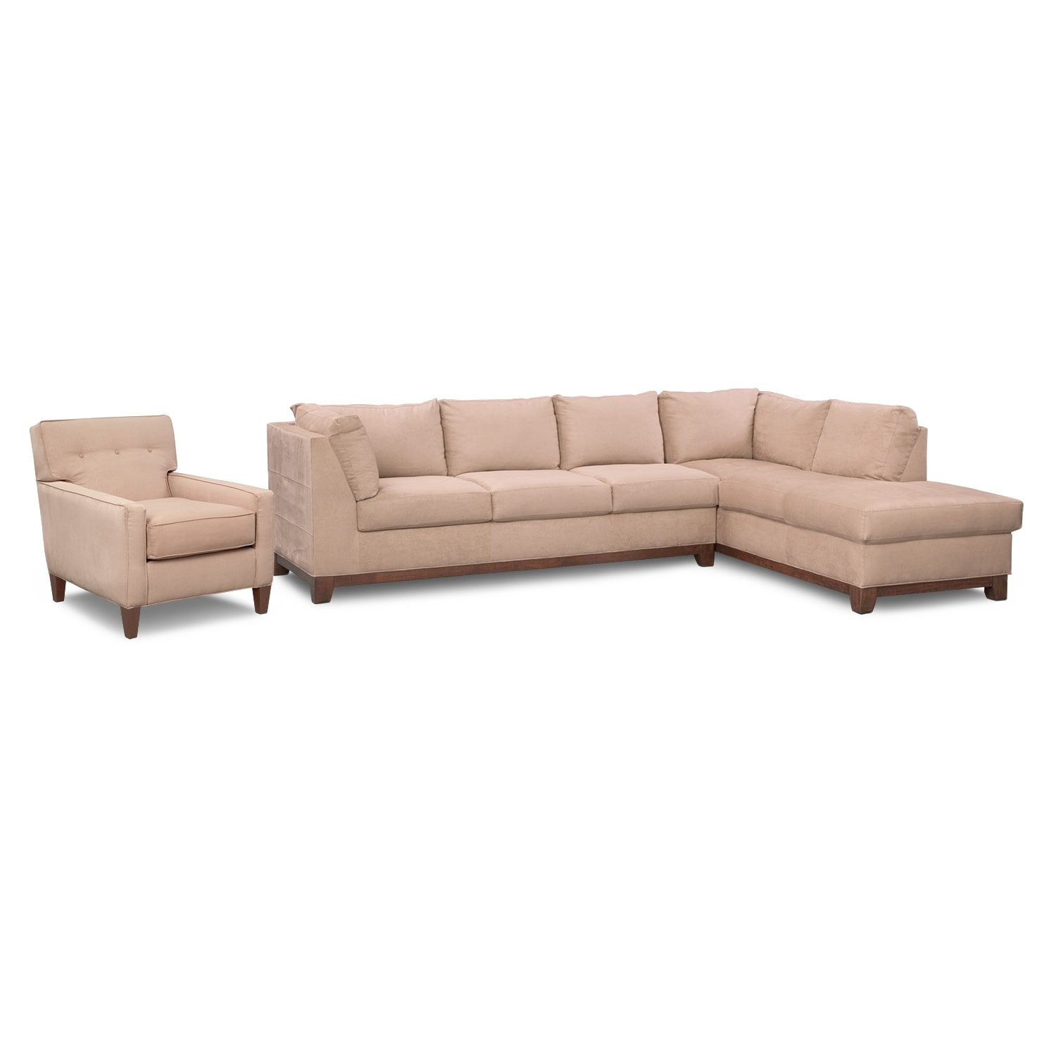 Living Room Furniture - Soho II 2 Pc. Sectional and Accent Chair
