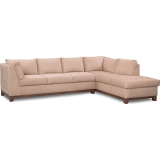 Soho 2-Piece Sectional with Right-Facing Chaise - Cobblestone