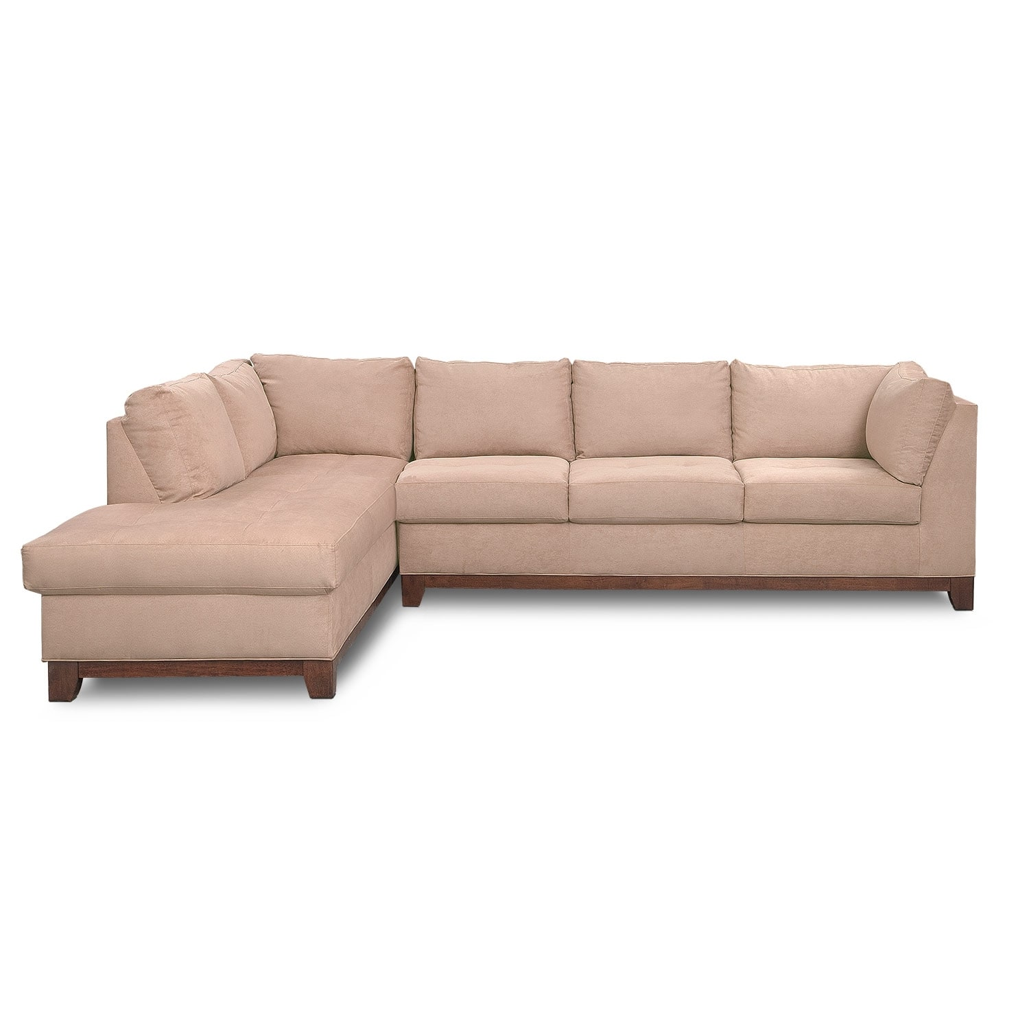 Soho 2 piece sectional with left facing chaise for 2 piece sectional sofa with chaise