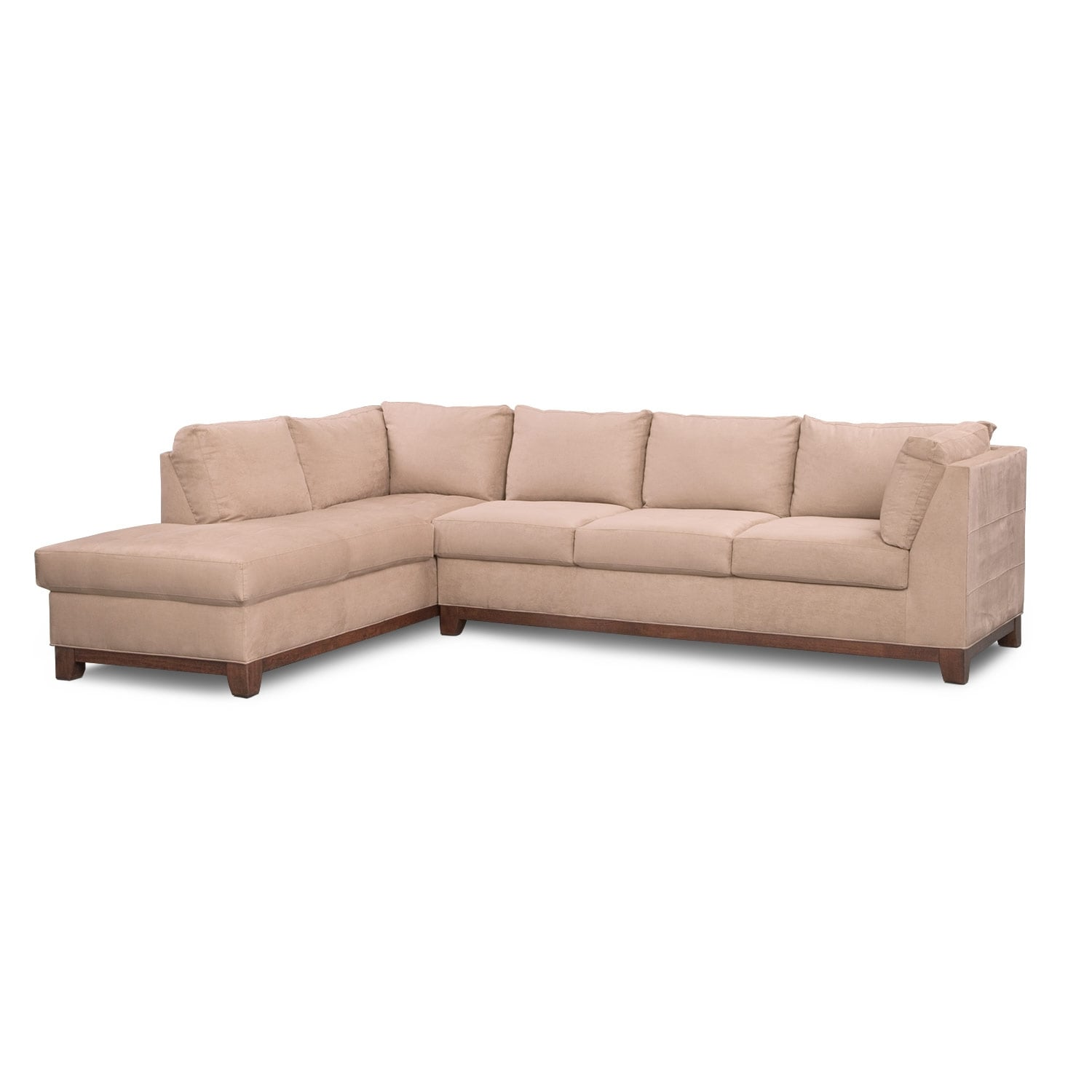 Soho 2 piece sectional with left facing chaise for Apartment sectional with chaise