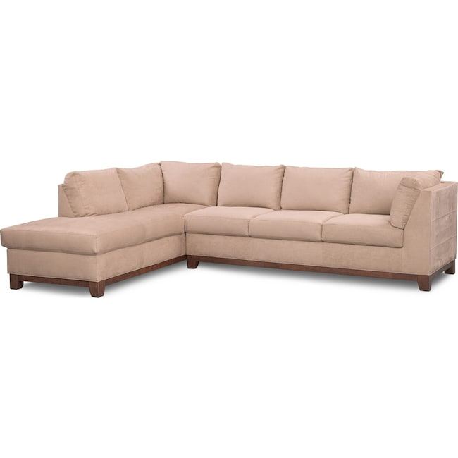 Living Room Furniture - Soho 2-Piece Sectional with Chaise