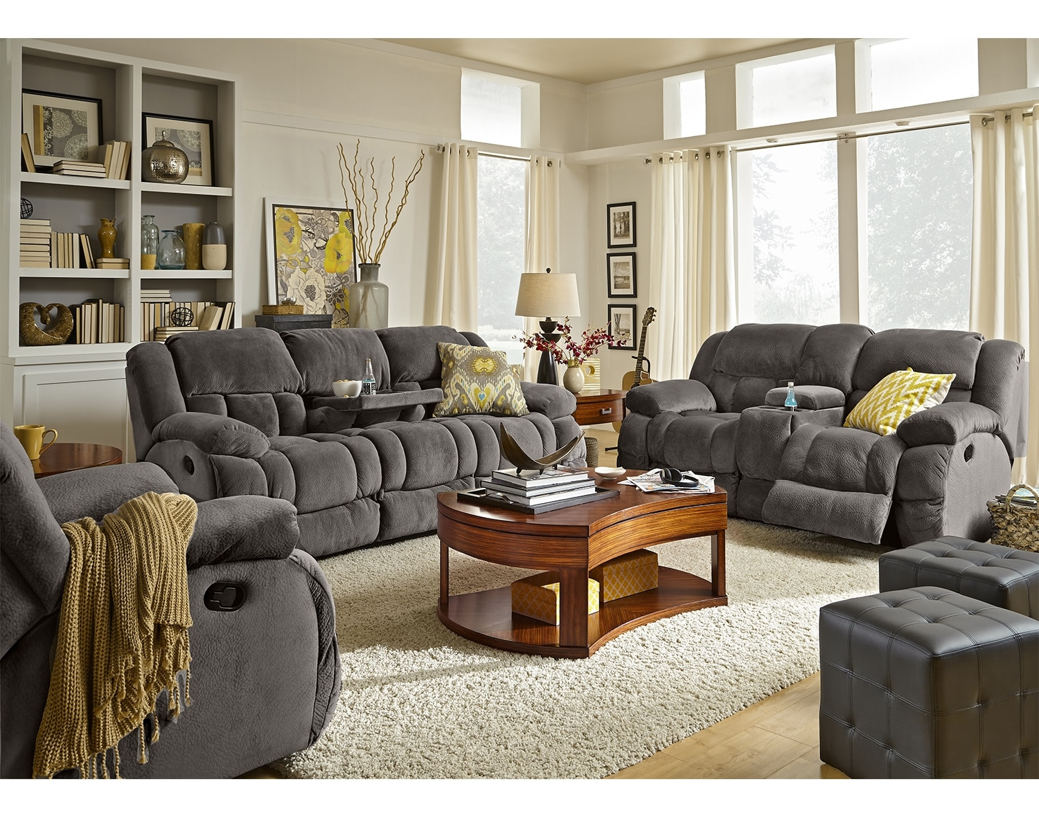 Living room collections american signature furniture for American furniture living room sets