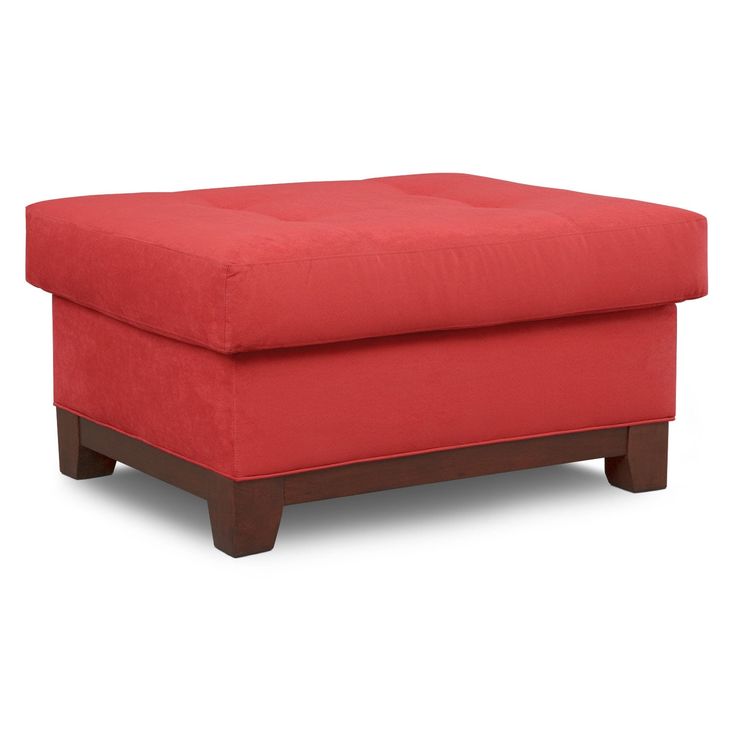 Living Room Furniture - Soho Ottoman - Red