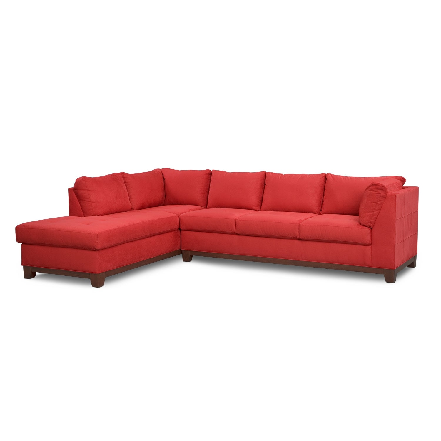 Soho 2-Piece Sectional with Left-Facing Chaise - Red