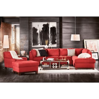 The Soho Sectional Collection - Red