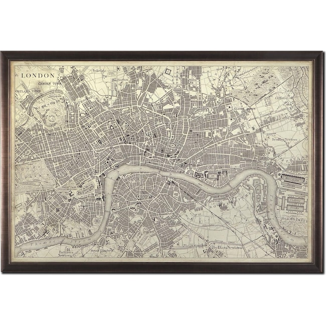 Home Accessories - Map of London Framed Print