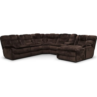 Big Softie 6-Piece Power Reclining Sectional with Chaise and 2 Reclining Seats