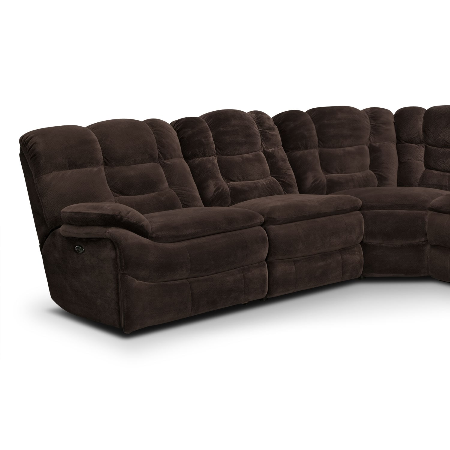 Big Softie 6 Piece Power Reclining Sectional Chocolate