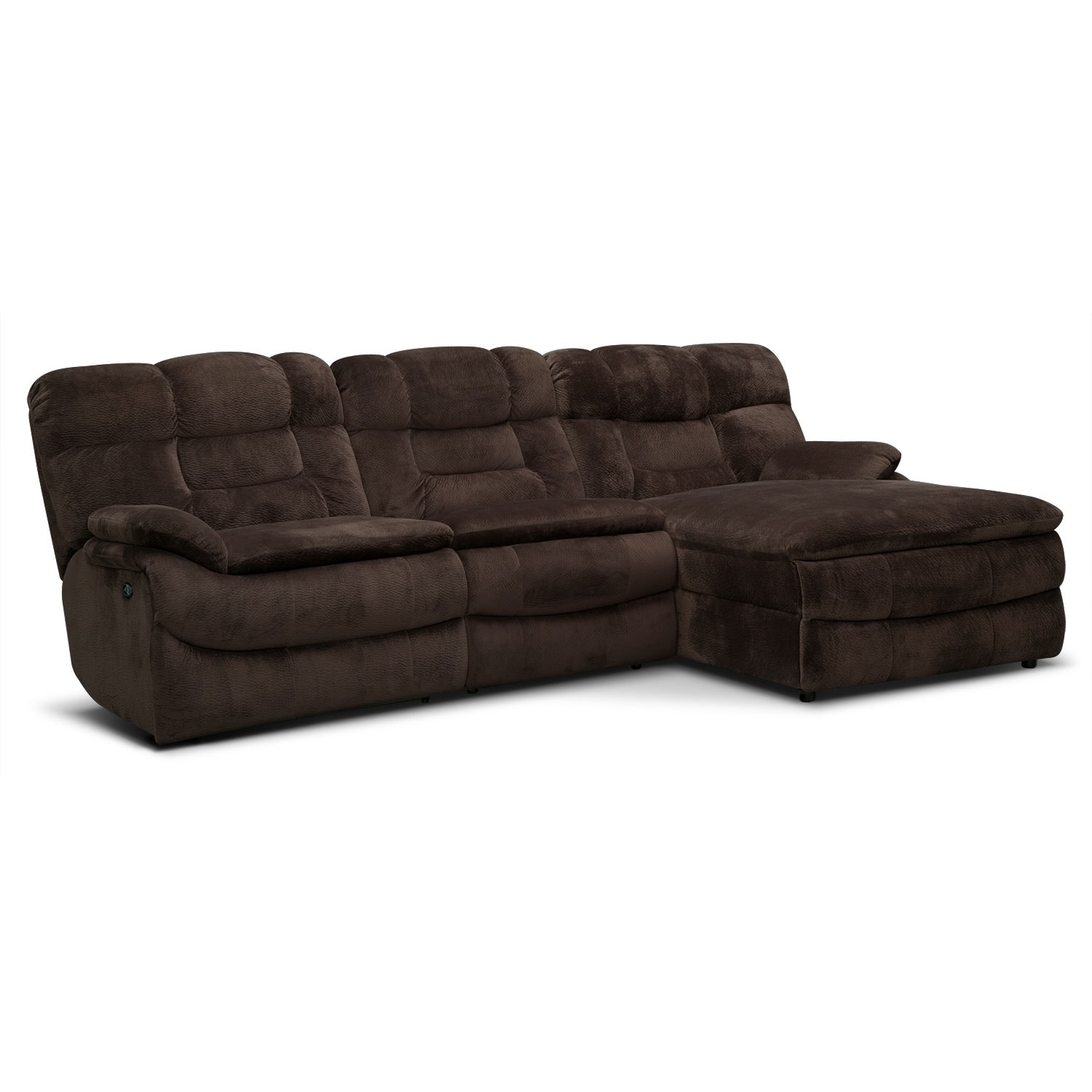 Big Softie 3 Piece Power Reclining Sectional with Right Facing