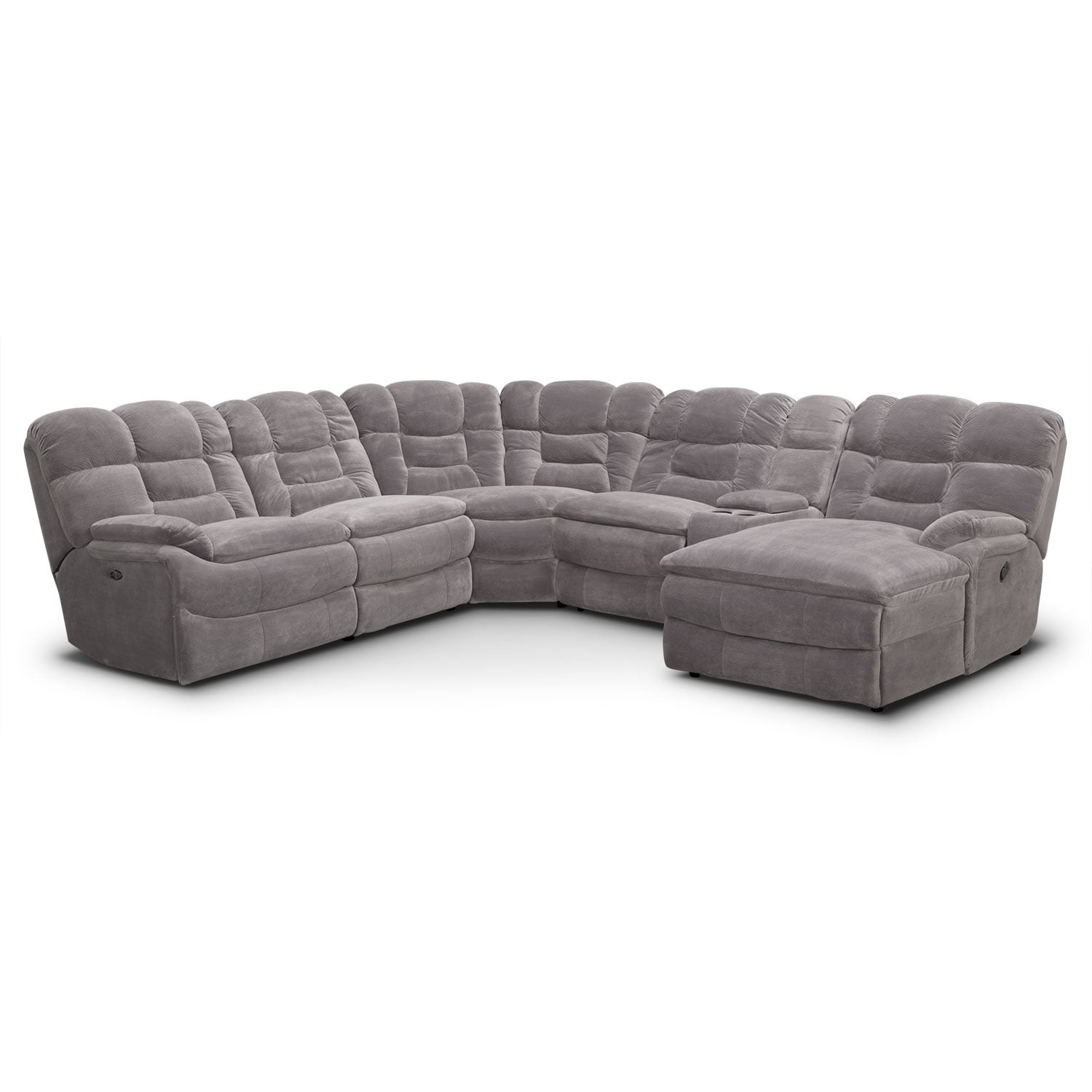 Living Room Furniture - Big Softie II 6 Pc. Power Reclining Sectional