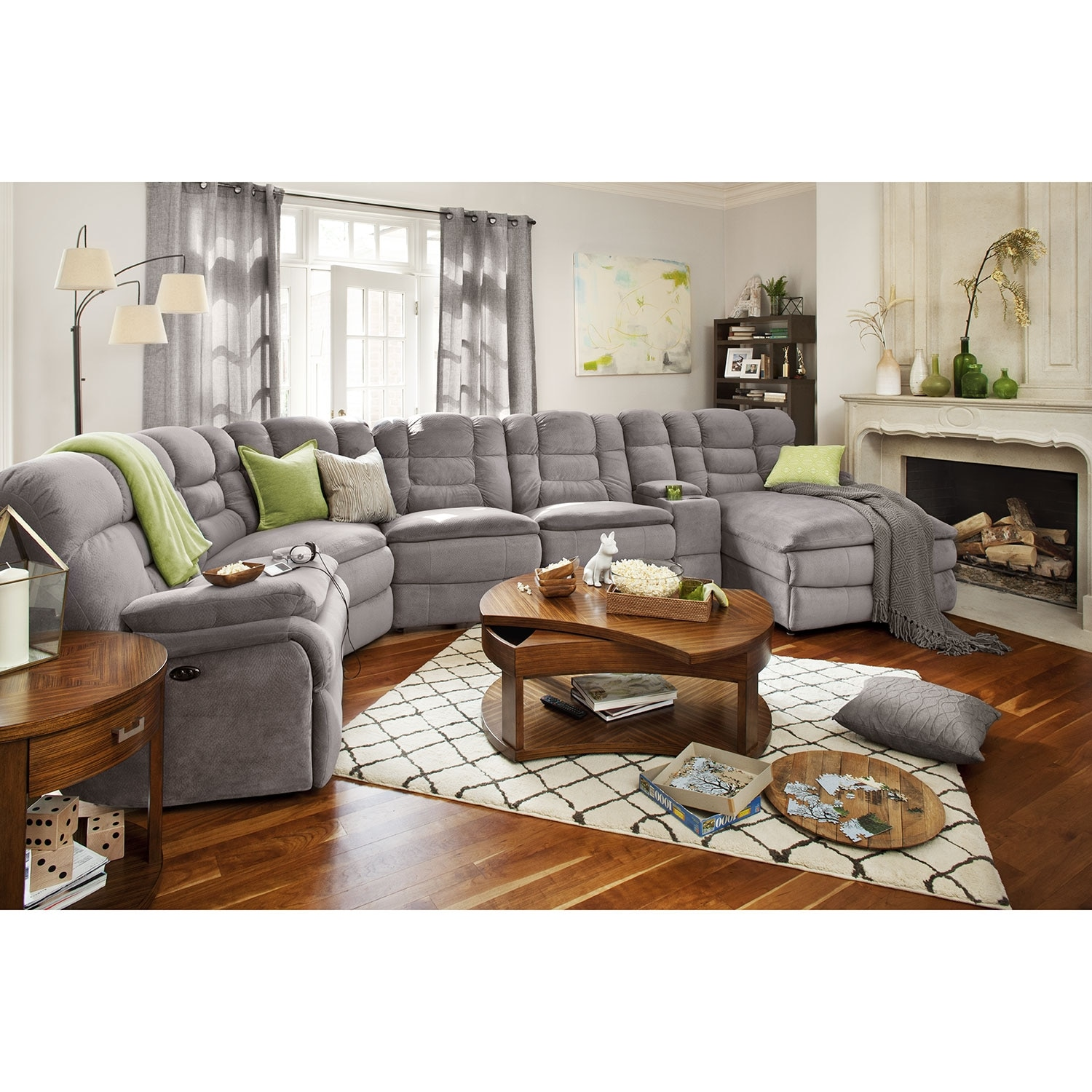 Www Furniture Com: Big Softie 6-Piece Power Reclining Sectional With Right