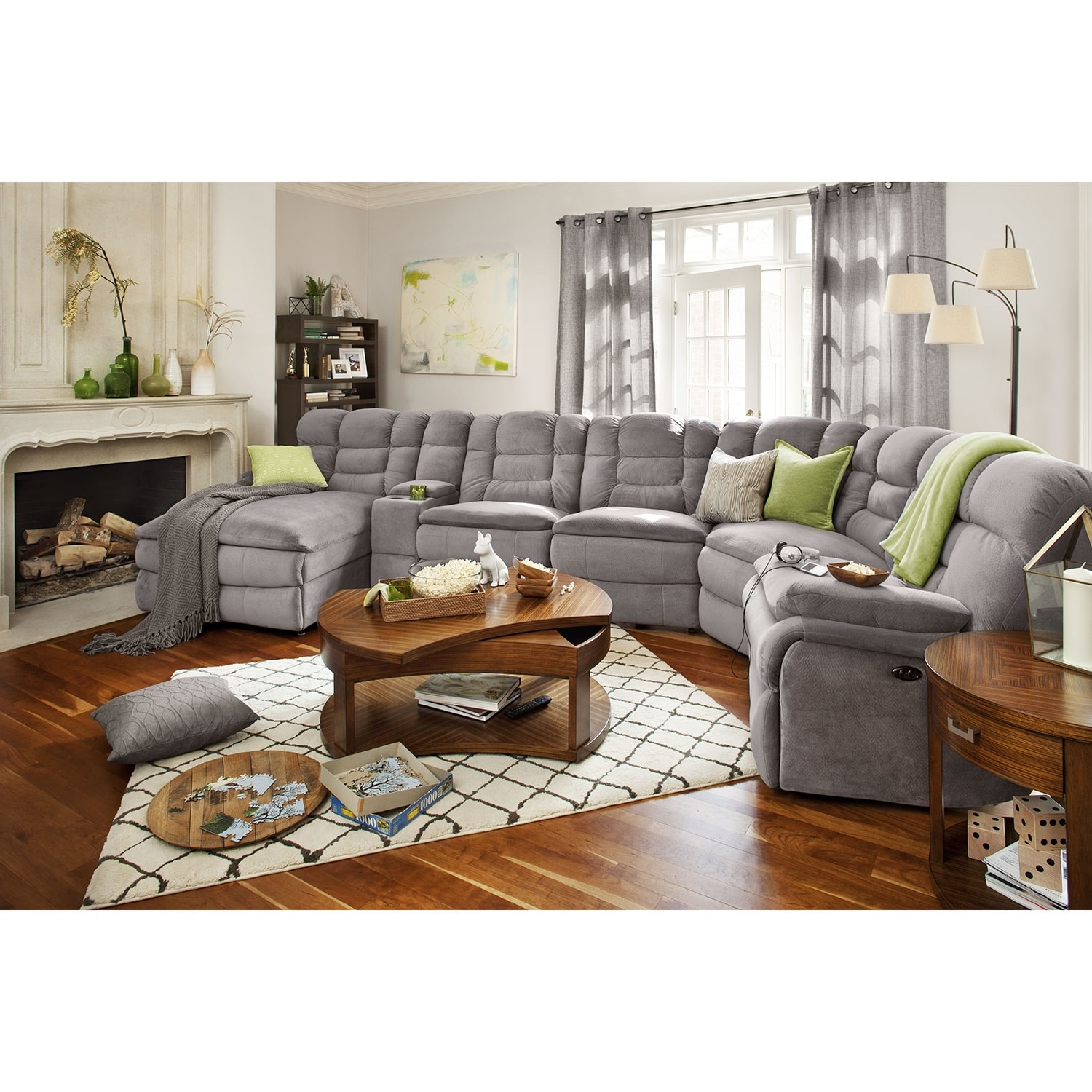 Big Softie 6 Piece Power Reclining Sectional with Left Facing