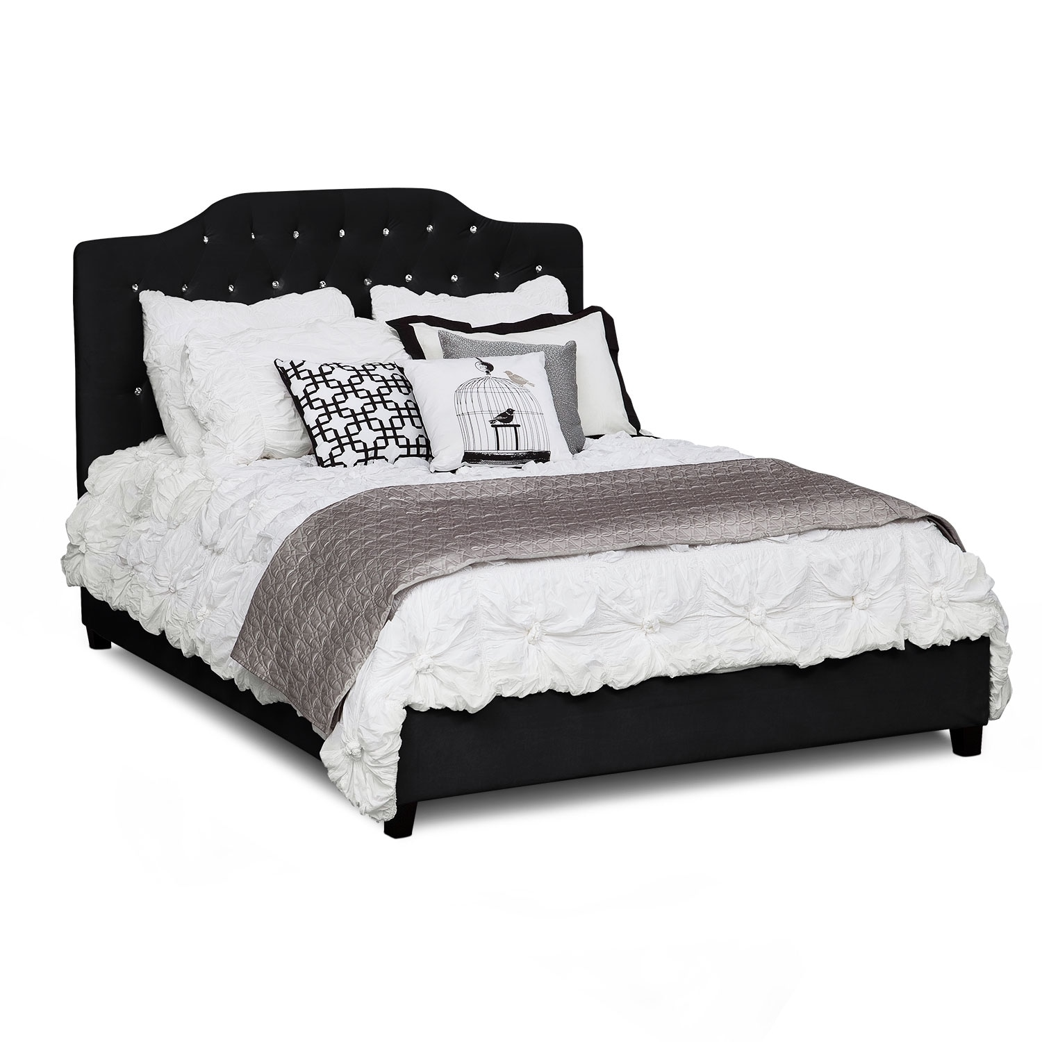 gothic american signature furniture valerie queen bed black