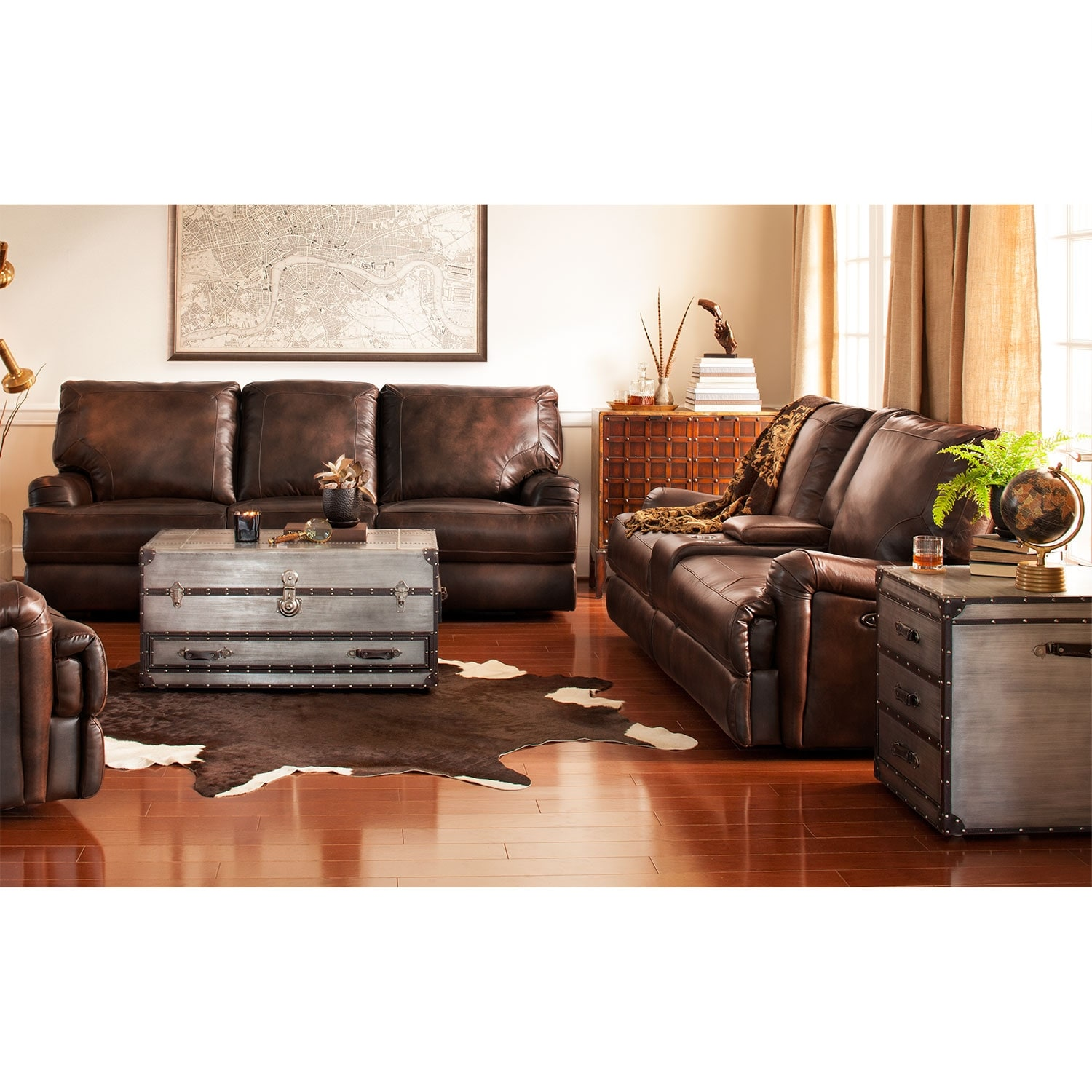 Living Room Furniture - Kingsway 2 Pc. Power Reclining Living Room