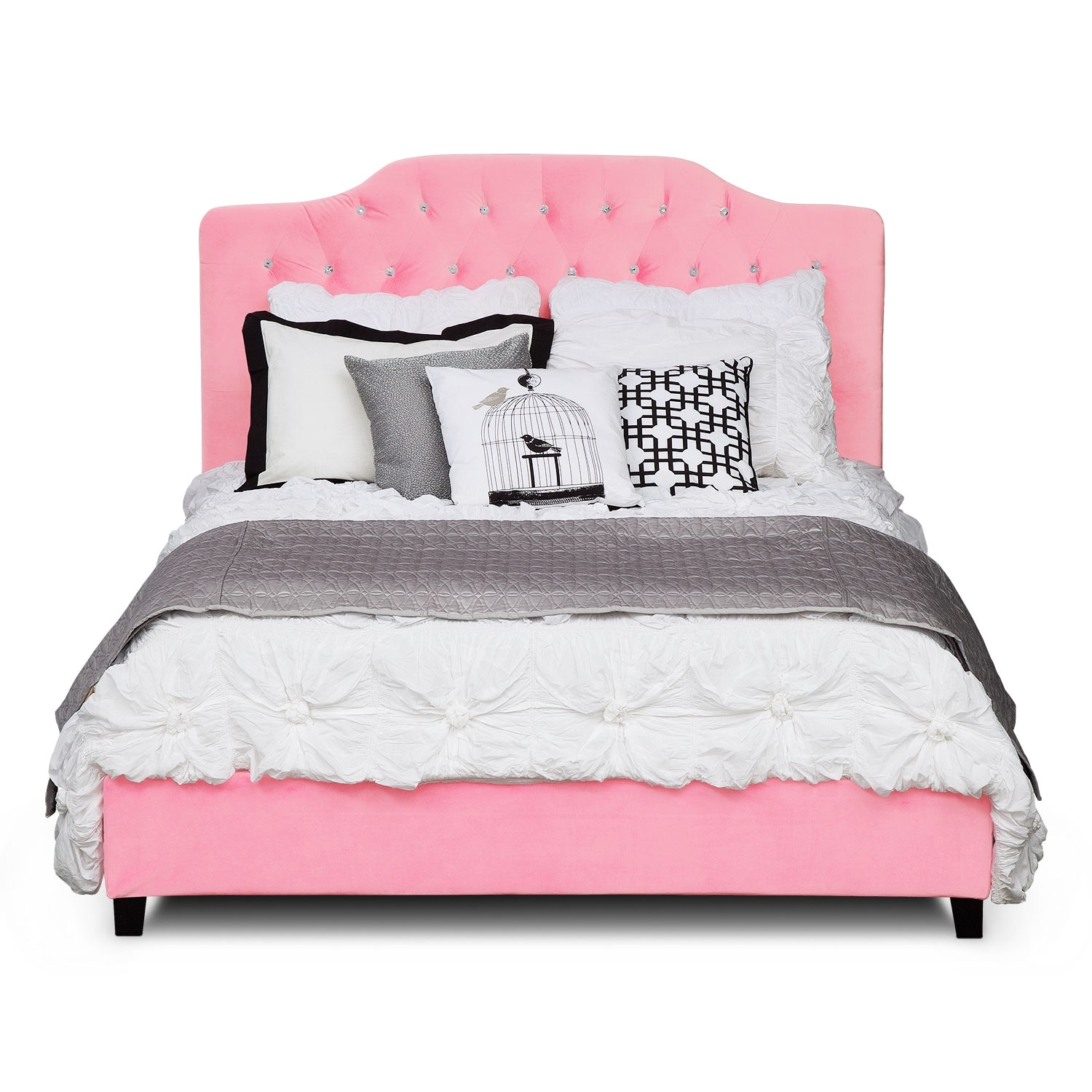 Valerie Queen Bed Pink American Signature Furniture