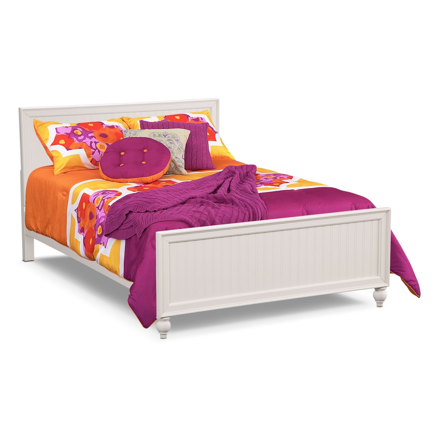 Bedroom Furniture - Colorworks Youth Full Bed - White