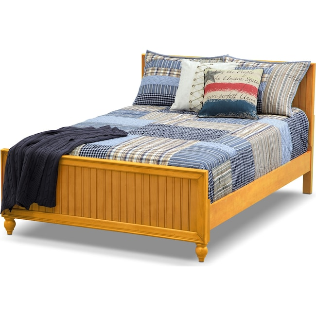 Bedroom Furniture - Colorworks Youth Full Bed - Honey Pine