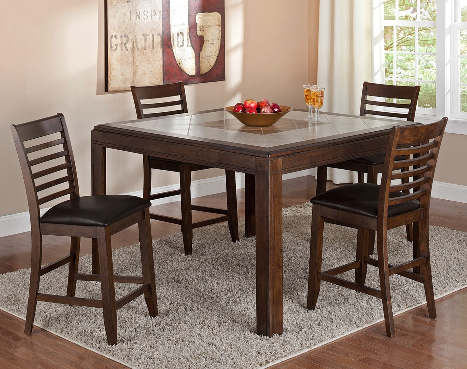The Deer Creek Counter-Height Collection - Brown