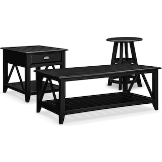 The Plantation Cove Coastal Table Collection - Black