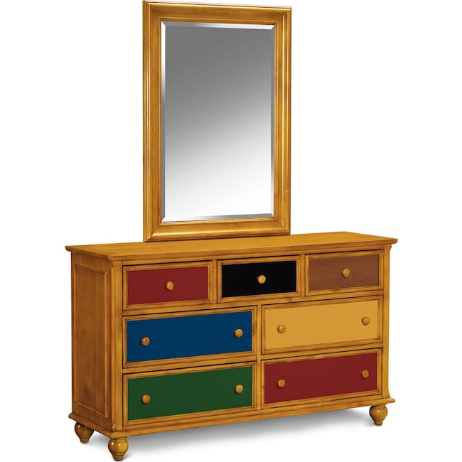 Bedroom Furniture - Colorworks Dresser and Mirror