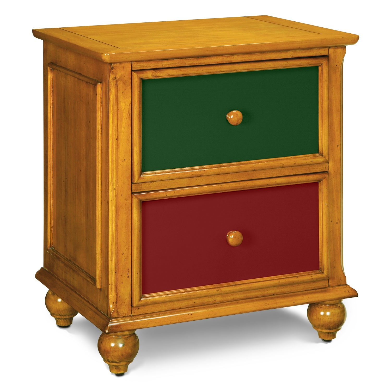 Kids Furniture - Colorworks Nightstand - Honey Pine
