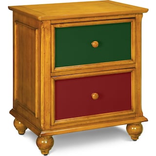 Colorworks Nightstand - Honey Pine